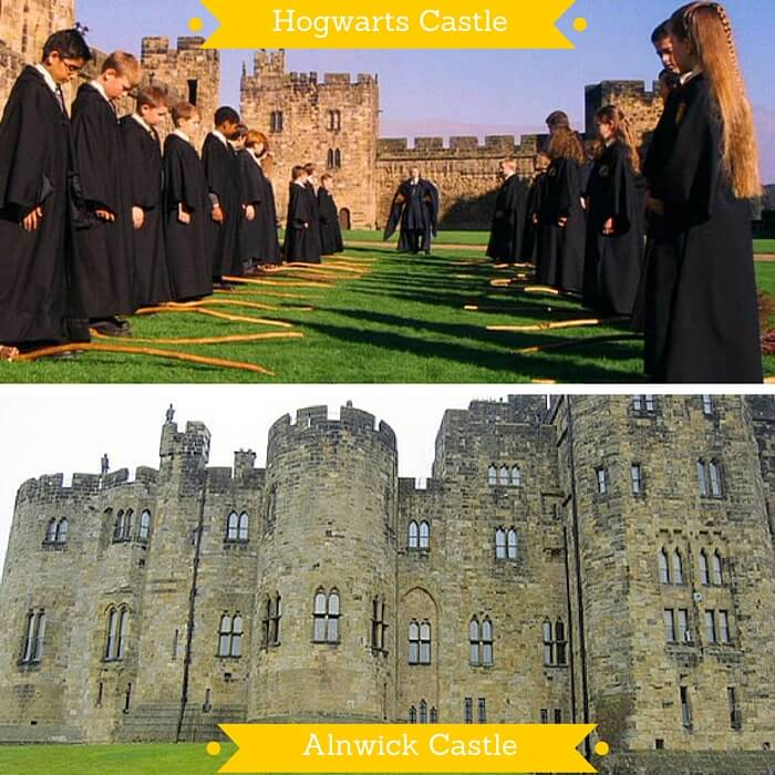 The Alnwick Castle that was used in first two Harry Potter movies as Hogwarts Castle