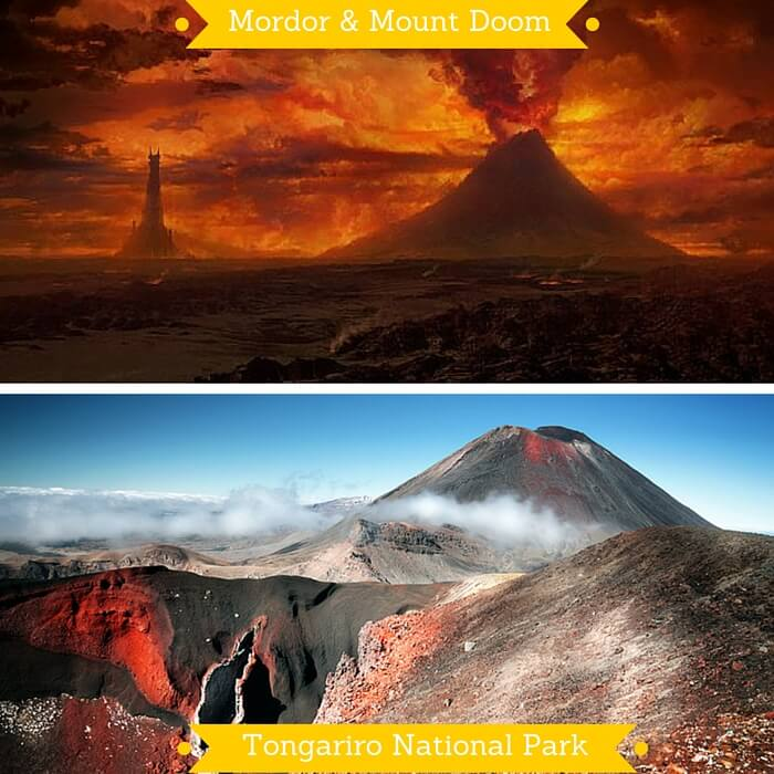 Mordor and the Tongariro National Park on which it is based