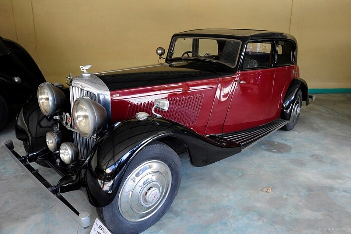 A rare vintage car at display in Auto World Vintage Car Museum in Ahmedabad
