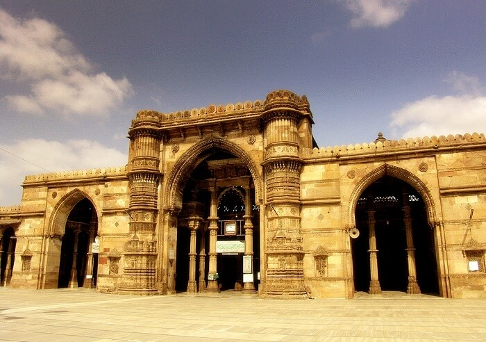 The stunning facade of Bhadra Fort - one of the best heritage tourist places in Ahmedabad