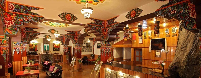 Beautiful interiors of Club Mahindra resort in Gangtok