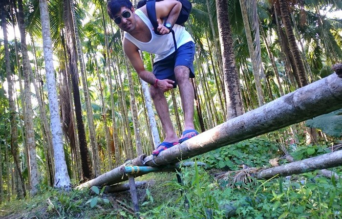 Abhinav having fun in Andaman