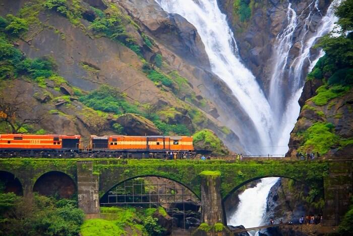 Dudhsagar Waterfall In Goa