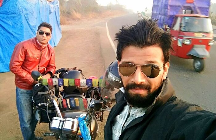 Karan Negi on a bike trip