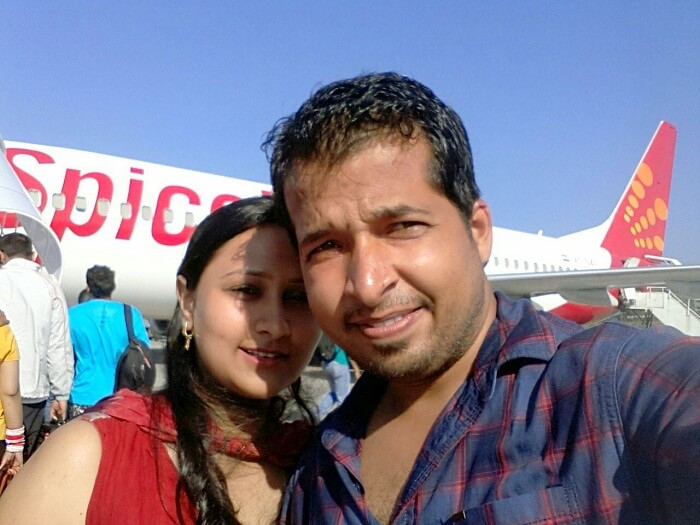 Agam and his wife arrive in Port Blair