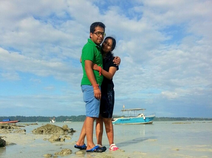 Agam and his wife in Havelock