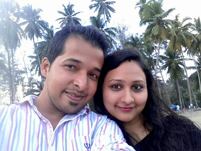 Agam and his wife clicking a selfie