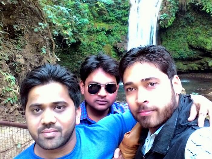 Rajveer with friends at Jim Corbett