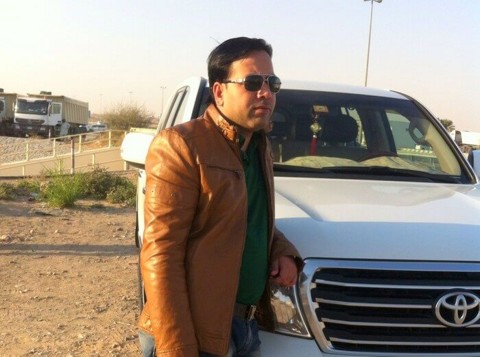 Kapil at the desert safari in Dubai