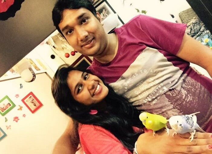 Ram and Kavya on their honeymoon in Singapore