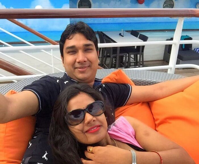 Kavya and Ram on the Star cruise