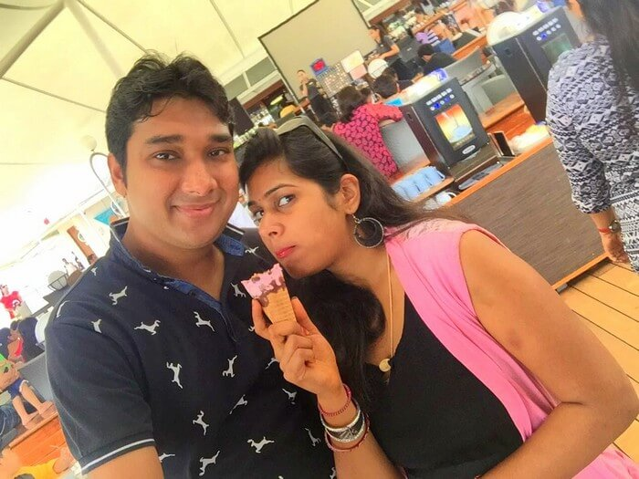 Ram and Kavya enjoying in Singapore