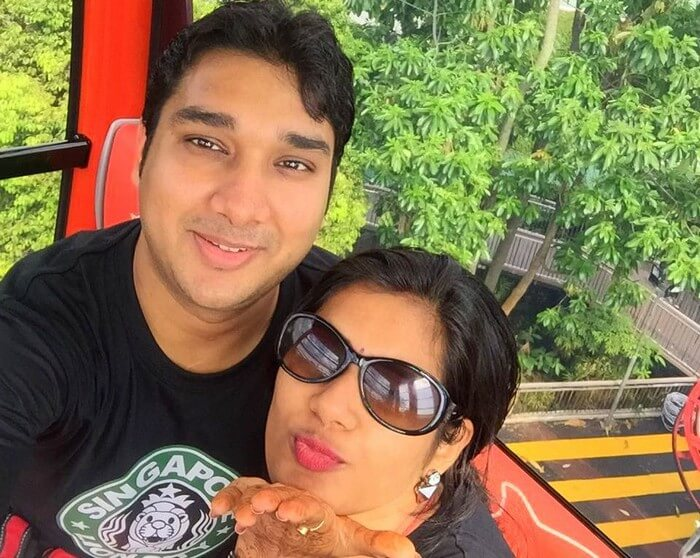 Ram and Kavya in Sentosa Island