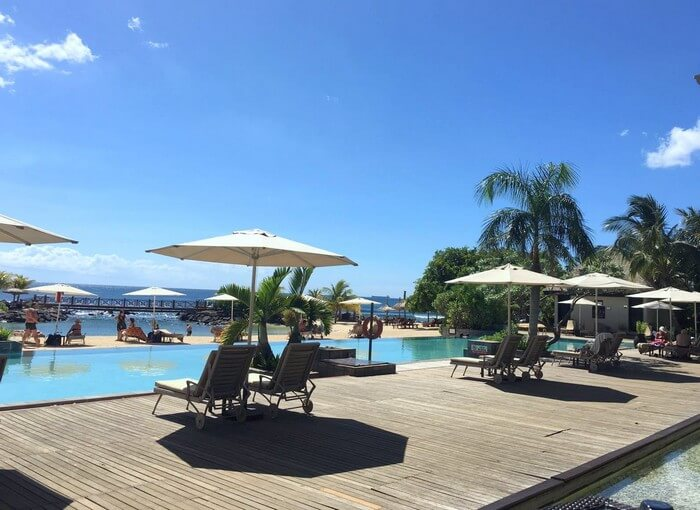 The pool at the InterContinental Resort in Mauritius
