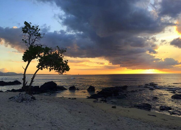 A mesmerizing sunset as seen from the beach of the InterContinental Resort in Mauritius