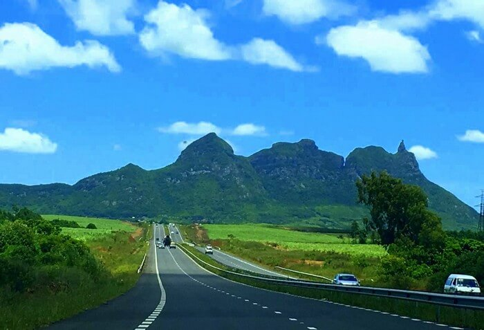 Sandeep on the way to the Volcanic crater in South Island in Mauritius