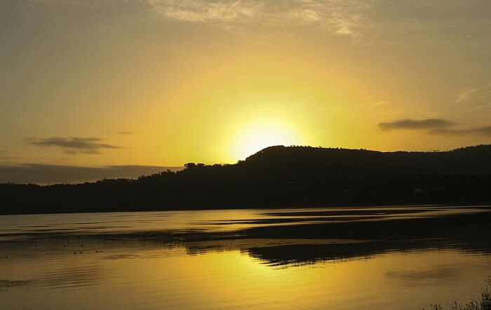 Sunset at Khadakwasla Dam – one of romantic places to visit in Pune