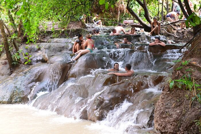 These marvelous Klong Thom Hot Springs draw many people for a healing dip in the warm water