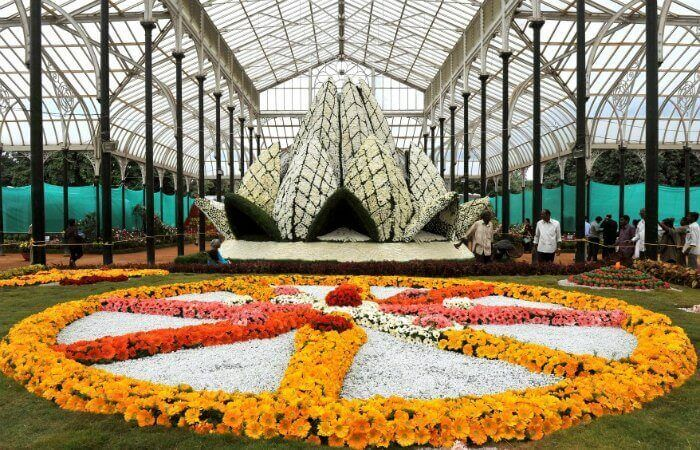 Lal Bagh Botanical Garden during its Annual Flower Show