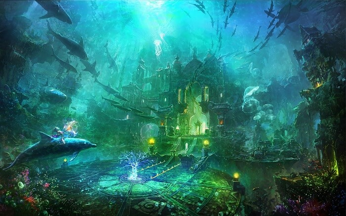 It is said that there are the majestic ruins of Atlantis under the Bermuda Triangle