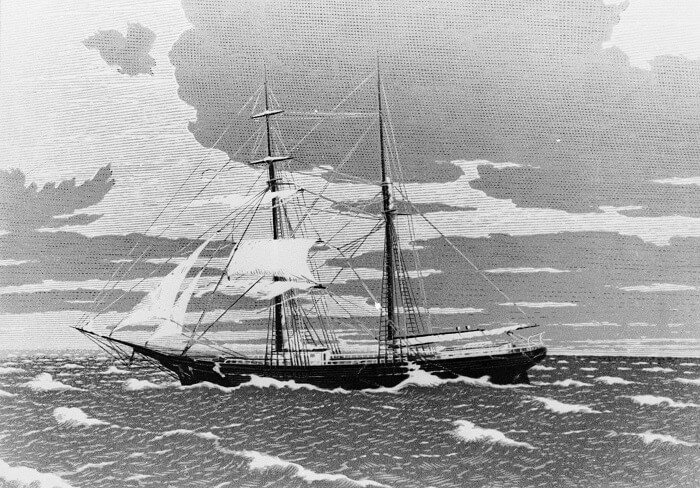 A rare image of Marie Celeste - the ship that was lost to the world in Bermuda Triangle on one of its missions