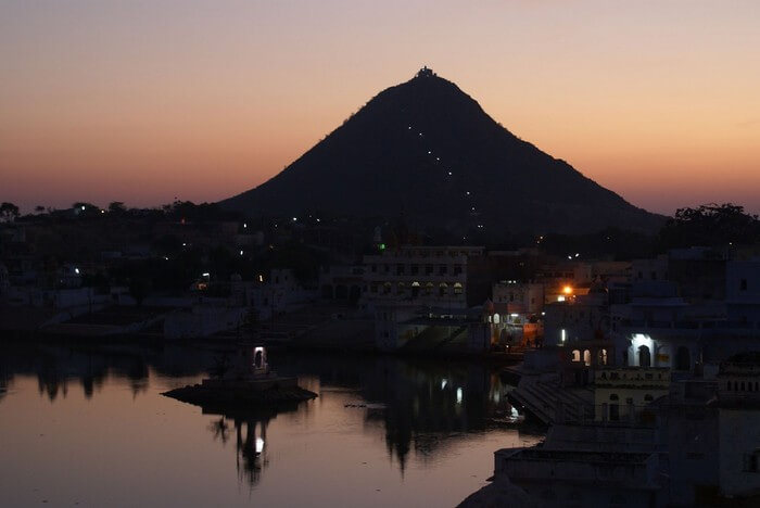 A magical view of the Naga Pahar at sunrise