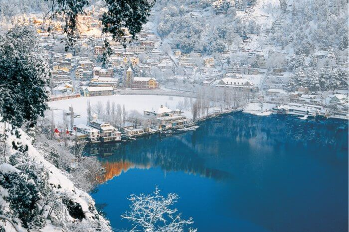 View of Nainital in winters