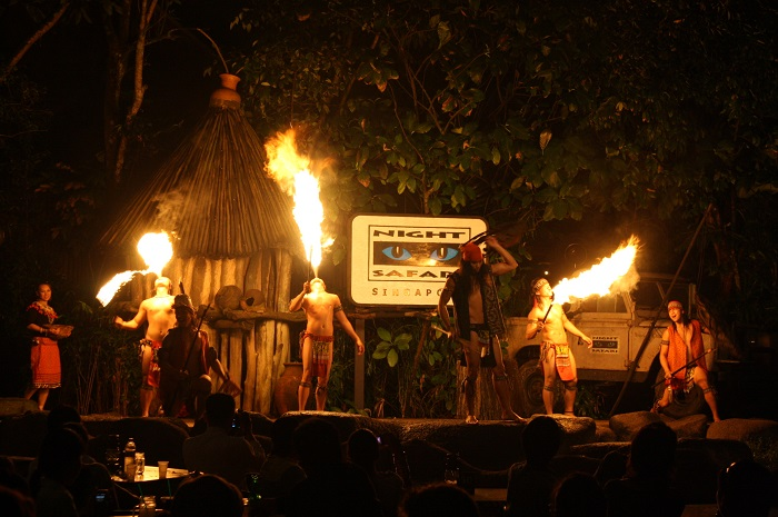 The lively show hypnotizes people with its lively fire performances