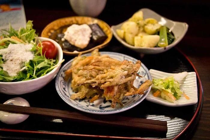 Vegetarian cuisine served at Ananda Fuara in San Francisco