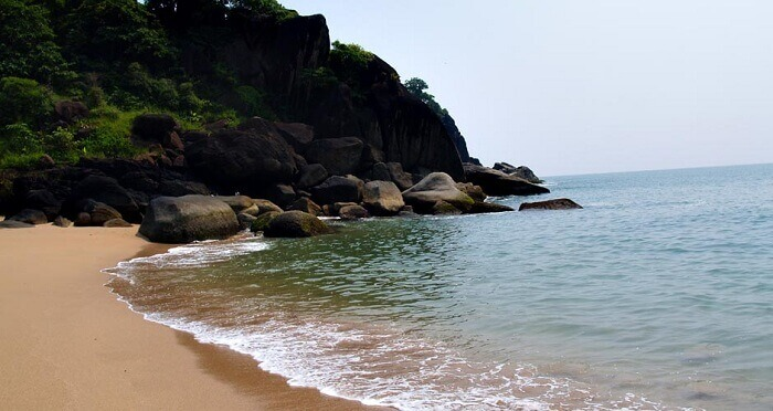 The tranquil beach of Goa