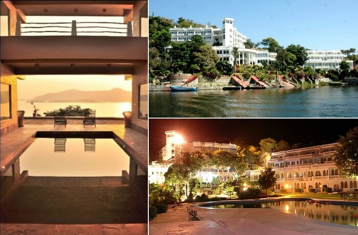 Many views from the Jaisamand Island Resort that is one of the best resorts near Udaipur