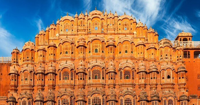Hawa Mahal historic monument in Jaipur, Rajasthan, India