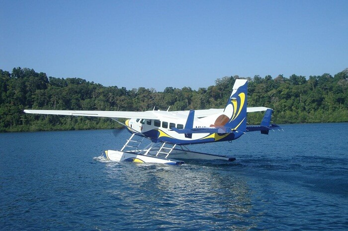 The sea plane run by Jal Hans in Andaman