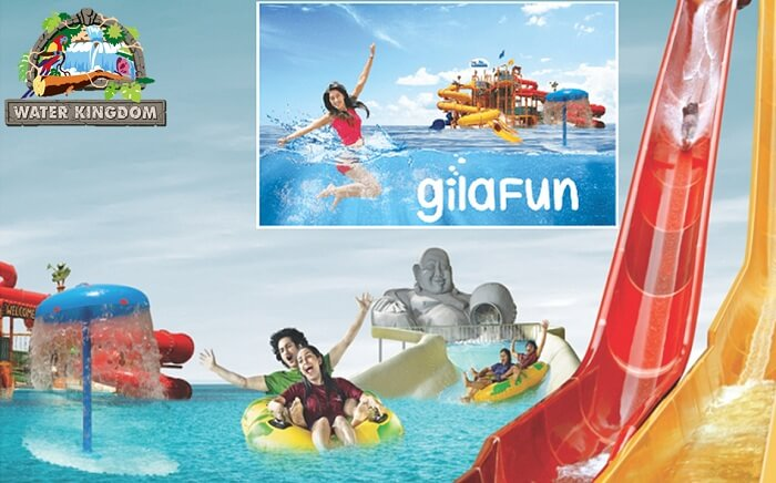 The water rides and activities at the Water Kingdom in Mumbai