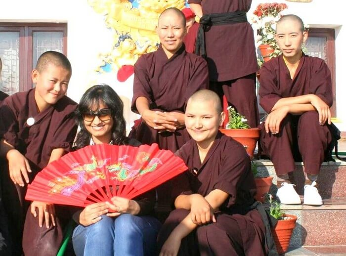 Swati's moment with Kung Fu Nuns