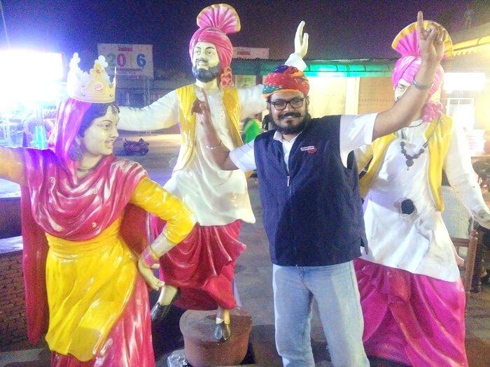 Sundar at a punjabi dhaba