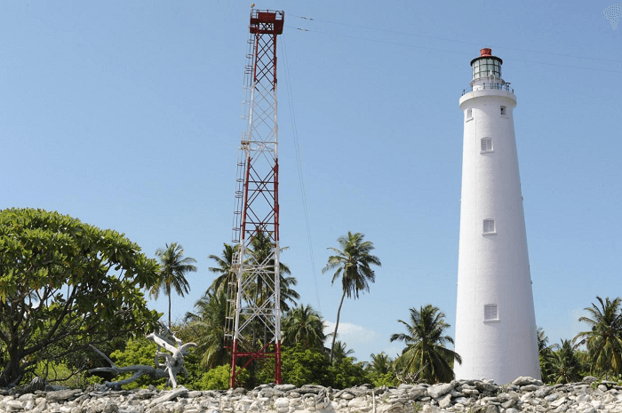Stunning lighthouse at Minicoy Island stands tall and proud