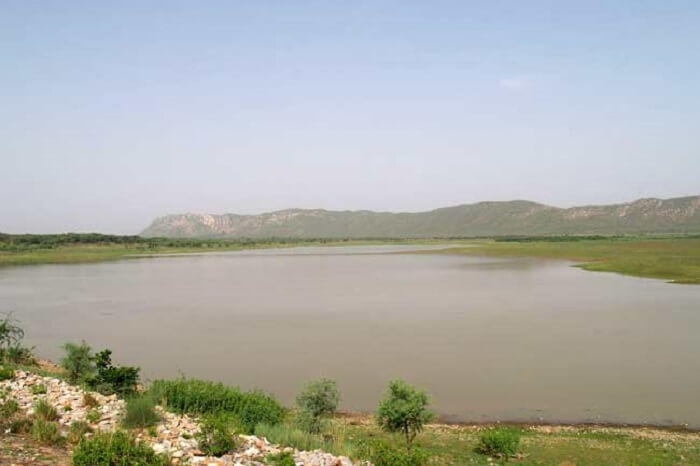 A view of the Ramgarh Lake near Jaipur