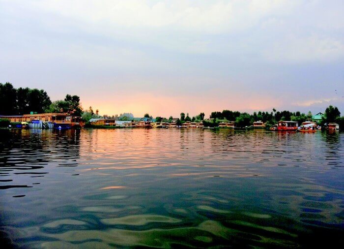 The Glorious sunset at Dal Lake. This pic is clicked just 2 days before the flood hit Srinagar