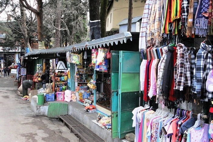 The numerous shops at the Tibetan Market in Kasauli