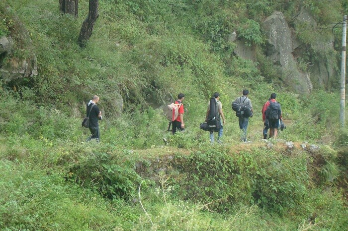 Trekkers take one of the trekking tours in Kasauli