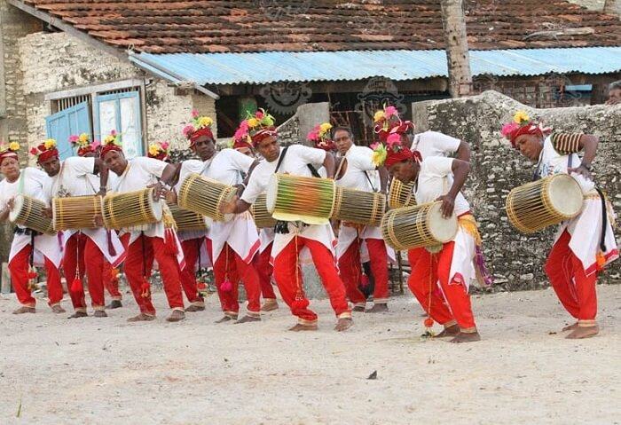 Tribals dancing and celebrating in Lakshadweep Islands