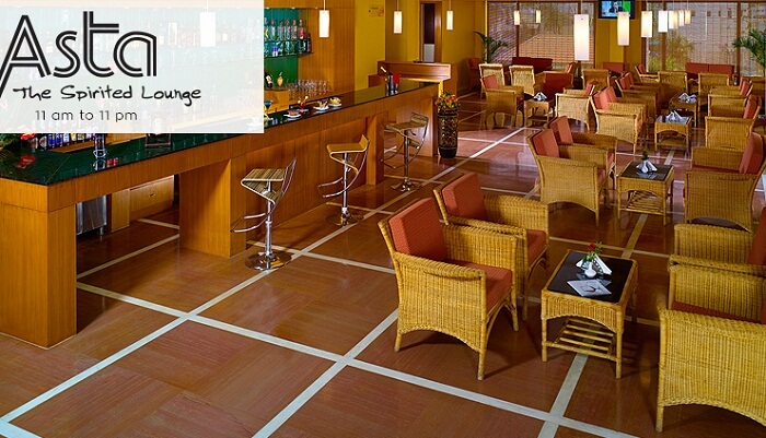 The interiors of the Asta Spirited Lounge in Pondicherry