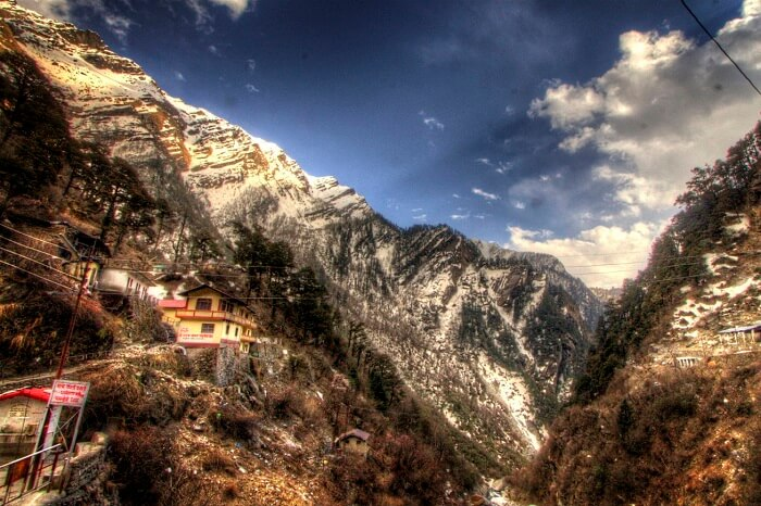 A view of the Himalayas at Yamunotri