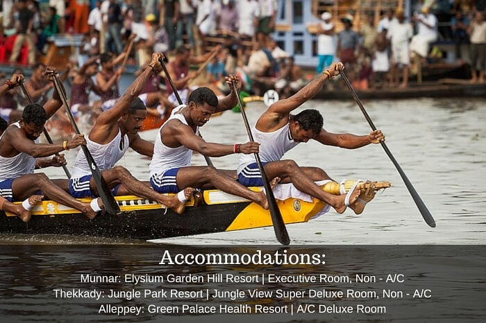 Rowers competing in the Nehru Snake Boat Race in Alappuzha