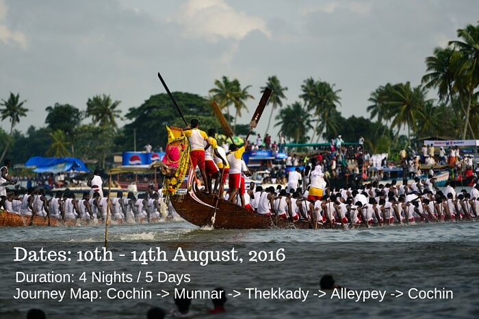 Snake boat race in procession