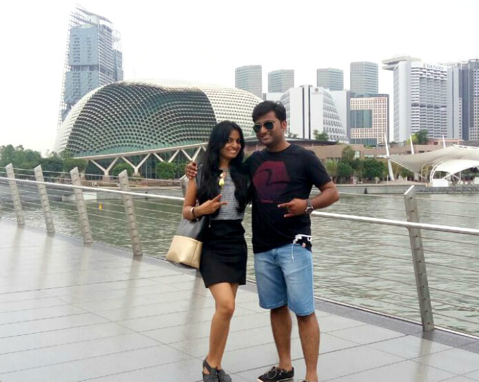 Pooja and her husband in China Town