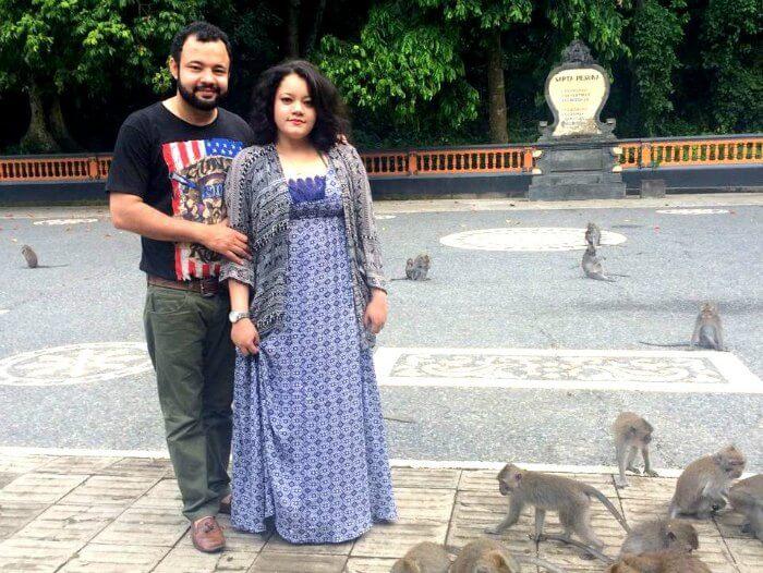 Ritika and her husband do sightseeing in Bali