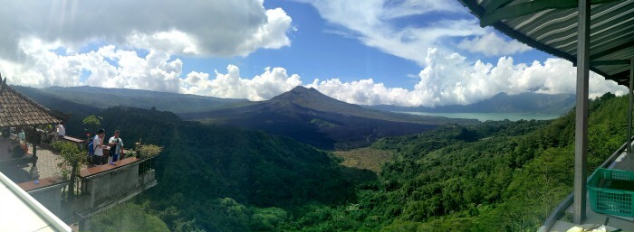 Amazing of the Volcano and valley in Bali