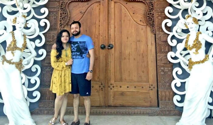 Ritika and her husband in Bali